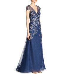 Liancarlo - Roses Bouquet Embroidered Gown - Lyst