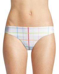 Onia - Lily Grid Rainbow Bikini Bottom - Lyst