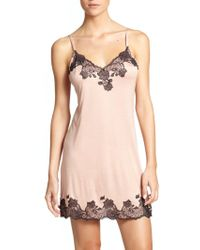 Natori - Charlize Lace Embroidered Chemise - Lyst