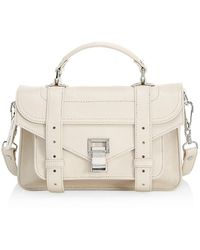 Proenza Schouler Tiny Ps1 Leather Satchel - Natural