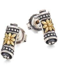 Konstantino - Penelope 18k Yellow Gold & Sterling Silver Scroll Stud Earrings - Lyst