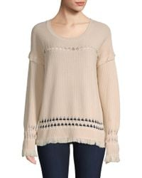 Feel The Piece - Colin Diamond Weave Fringed Jumper - Lyst