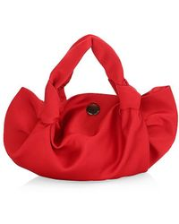The Row Ascot Double Silk Satin Pouch - Red