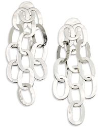 Ippolita - Glamazon Sterling Silver Roma Link Hero Drop Earrings - Lyst