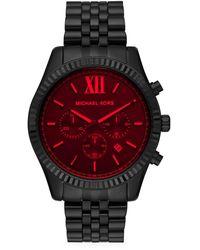 Michael Kors Lexington Stainless Steel Chronograph Watch - Black