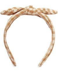 Loeffler Randall Meadow Gingham Bow Headband - Multicolor