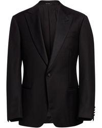 Emporio Armani G-line Super Line Peak Tuxedo - Black