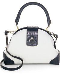 MANU Atelier - Demi Leather & Suede Satchel - Lyst