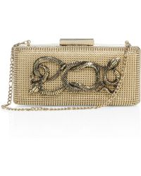 Whiting & Davis - Serpents Goldtone Convertible Minaudiere - Lyst
