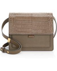 Nancy Gonzalez - Gili Leather & Croc Crossbody Bag - Lyst
