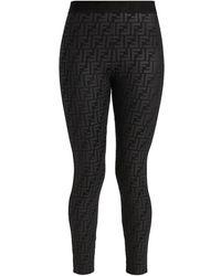 Fendi Ff Fendirama Fitness Leggings - Black