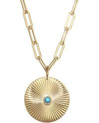 Jennifer Zeuner - Iris Turquoise Pendant Necklace - Lyst