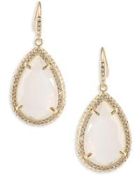 ABS By Allen Schwartz - Anytime Anywhere Crystal Teardrop Earrings - Lyst