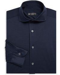 Corneliani - Solid Jersey Dress Shirt - Lyst
