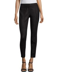 Yigal Azrouël - Snake Embossed Leather Pants - Lyst