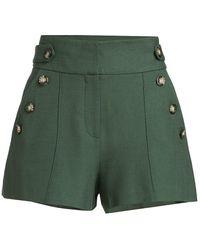 Veronica Beard Pine Shorts - Green