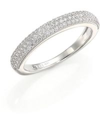 Adriana Orsini Rhodium-plated Pavé Band - Metallic