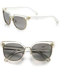 Chloé Dafne 57mm Square Sunglasses - Multicolour