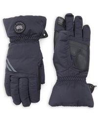 Canada Goose Hybridge Touch-screen Down-fill Gloves - Black