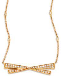 Hueb - Origami Large Diamond & 18k Yellow Gold Pendant Necklace - Lyst