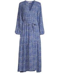 lemlem Halima Coverup Robe - Blue