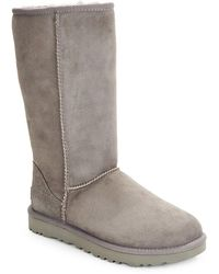 UGG Classic Tall Ii Shearling-lined Suede Boots - Gray