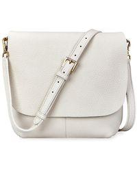 Gigi New York Andie Leather Crossbody Bag - White