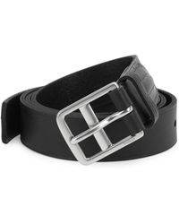 Polo Ralph Lauren - Equestrian Stitched Tab Leather Belt - Lyst