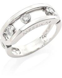 Messika Move Classic 18k White Gold & Diamond Ring - Metallic