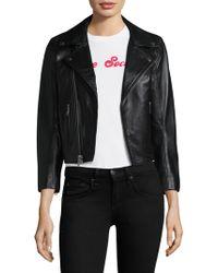 Ganni - Passion Leather Jacket - Lyst
