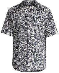 Brioni Roman Map Sport Shirt - Multicolor