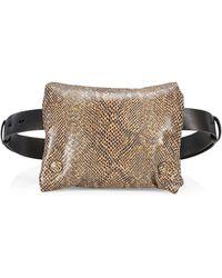 Nanushka Tao Vegan Leather Puffer Belt Bag - Brown