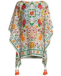 Tory Burch Folkloric Cotton & Silk Kaftan - Multicolor
