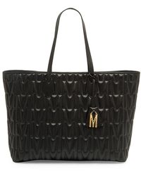 Moschino Embossed Leather Tote - Black