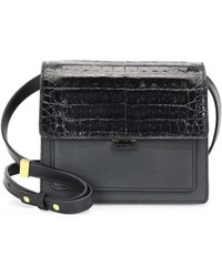 Nancy Gonzalez - Gili Leather & Croc Crossbody Bag - Lyst