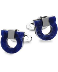 Ferragamo Gancio Lapis Cufflinks - Blue