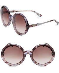 f868b1e3cc4e4 Bottega Veneta - Timeless Elegance 61mm Round Sunglasses - Lyst