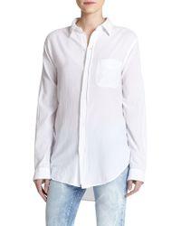 Current/Elliott - The Prep School Cotton Shirt - Lyst