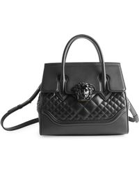 Versace - Quilted Palazzo Empire Top Handle Bag - Lyst