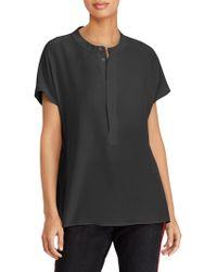 Polo Ralph Lauren - Short-sleeve Silk Blouse - Lyst