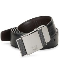 Dunhill Reversible Leather Pin Buckle Belt - Black