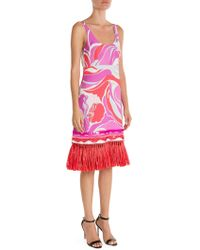 Emilio Pucci - Sable Embellished Hem Print Tank Dress - Lyst