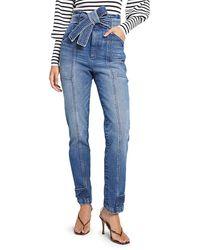 A.L.C. Luke Tie-waist Straight Leg Jeans - Blue