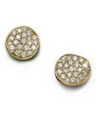 Ippolita - Stardust Diamond & 18k Yellow Gold Small Stud Earrings - Lyst