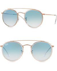 Ray-Ban - Iconic Round Aviator Sunglasses - Lyst