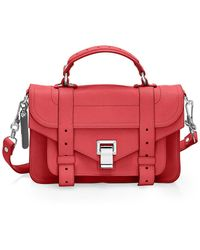 Proenza Schouler Tiny Ps1 Leather Satchel - Red