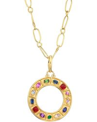 Temple St. Clair - Natr Recon 18k Yellow Gold Multi-gem Pendant Necklace - Lyst
