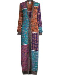 M Missoni Patchwork Mohair-blend Duster Cardigan - Multicolor