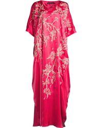Natori Cherry Blossoms Caftan - Pink
