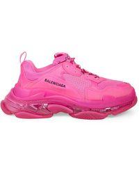 Balenciaga Triple S Clear Sole Sneakers - Pink